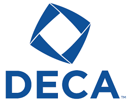 Logo for the Student Organization DECA