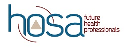 Logo for the Student Organization HOSA - Future Health Professionals